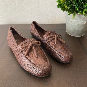 Cole Haan Weave Loafers Tassels Brown size 5.5